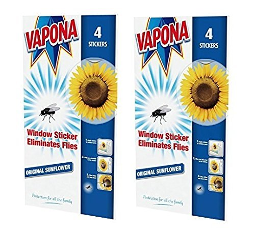 X Vapona Window Stickers Sunflower X Insect Flies Wasp Pest - Window stickers amazon uk