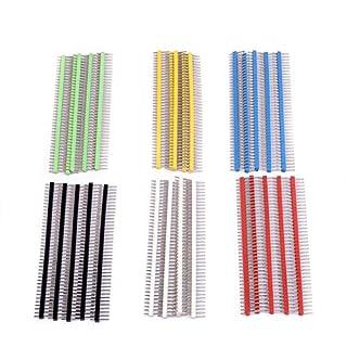 cylewet 30Stück 40Pin-Header zerbrechlichen 2,54mm einreihig Stecker Header-Anschluss-Kit PCB Pin Strip für Arduino (30Stück) clw1006