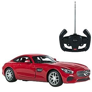 Rastar - Mercedes AMG GT, coche teledirigido con puertas que se abren, escala 1:14, color rojo (ColorBaby 85000)