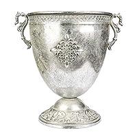 Vitale Marial Gümüş Metal Oval Kupa Vazo
