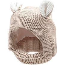 Tefamore Sombrero bebé de gorras de punto de suave encantador de oreja invierno y traje de Fotografía Prop