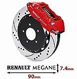 Motorsport Aufkleber Renault Megane 4 Bremsen Aufkleber aus Hochleistungsfolie, `+ Bonus Testaufkleber