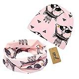 iZiv Babybekleidung Schals Niedliche Baby Kleinkind Kinder Cartoon drucken Hut Kappe Mütze + Schal Warp Set für 0-2 Jahre (Rosa Panda)