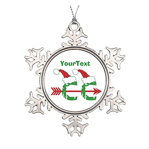 Daily Lady Weihnachtsdekoration, Motiv Customize Funny Christmas© Cross Country, einseitig, Keramik, rund