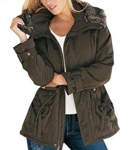 Legerer Parka von together in Dunkelkhaki (34, Dunkelkhaki)