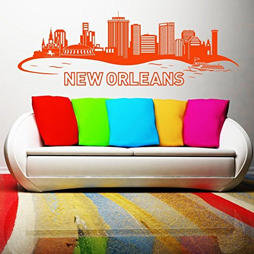 wandaufkleber 3d schlafzimmer Wall Sticker Quotes Decals Decor Vinyl Art Stickers New Orleans Skyline for living room home décor
