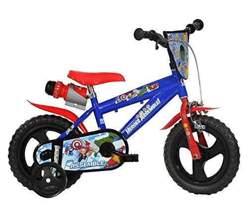 Mediawave Store Fahrrad Kinder Dino Bikes 412ul-av Größe 12Avengers Fahrrad Alter 3-5Jahre - Ul-typ