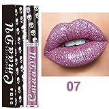 Quaan Sexy 8 Färben Lippenstift, Mode Dame Mädchen Nackt Metallisch Frosted Samt Glänzend Lipgloss dauerhaft solide wasserdicht Lippenstift Lippe Sahne
