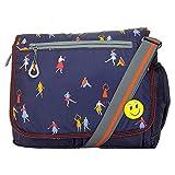 JG Unisex Nylon Sling Bag Cross Body (Blue)