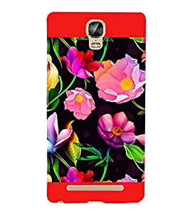 Flowers Pattern 3D Hard Polycarbonate Designer Back Case Cover for Gionee Marathon M5 Plus