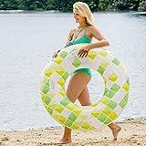 Unbekannt XXL aufblasbarer Schwimmring im Mosaik Design TÜV-Rheinland zertifiziert 118cm • Schwimmreifen Schwimmsitz Badespaß Pool aufblasbar Wasser Spielzeug