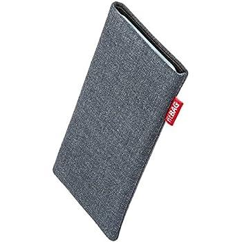 fitBAG Jive Grau Handytasche Tasche aus Textil-Stoff mit Microfaserinnenfutter für Nokia Lumia 630
