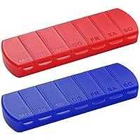 Pillendose 7 Tage Medikamentenbox Tablettenbox BPA-FREI Aufbewahrungsbox mit Deckel für Unterwegs 11 x 4 x 1.4... preisvergleich bei billige-tabletten.eu