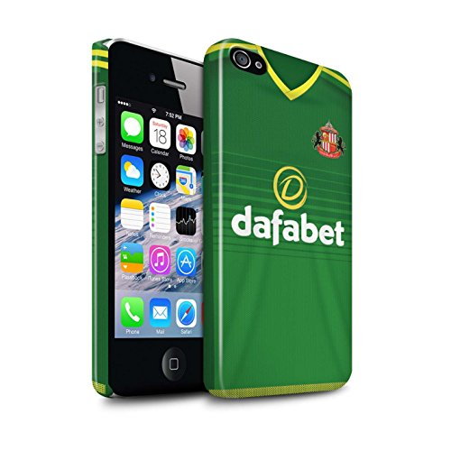 Offiziell Sunderland AFC Hülle / Glanz Snap-On Case für Apple iPhone 4/4S / Pack 24pcs Muster / SAFC Trikot Away 15/16 Kollektion Fußballer