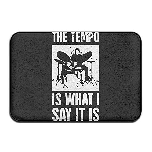 ZHIZIQIU The Tempo is What I Say It is †Drum Set Antislip Welcome Doormat Kitchen Rug (Drum-set Ornament)