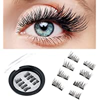 pestañas magnéticas, Esther Beauty 3D reutilizable ultra finas Dual Magnetic Eyelashes