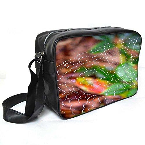 Snoogg Spider Web Leder Unisex Messenger Bag für College Schule täglichen Gebrauch Tasche Material PU (Web Gucci)