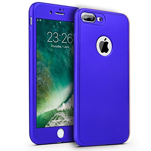 Custodia iPhone 6, iPhone 6S Cover 360 Gradi Silicone, SainCat Custodia in Ultra Slim Silicone Cover per iPhone 6/6S, 360 Gradi Full Body Antishock Custodia in Ultra Slim Silicone Case Ultra Sottile Morbida Gel Ultra Soft Cover TPU Case Ultra Thin Custodia Cover Bumper Antipolvere Ultra Protettiva Anti-scratch Skin Cover Shell Coperture Bumper Cover per iPhone 6/6S 4.7-Blu Scuro