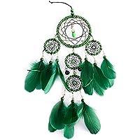 5 aros verdes atrapasueños campanas de viento boda hogar decoración colgante