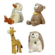 Sharplace 4pcs Animali In Miniatura Giardino Figurina Fata Delle Bambole Bonsai Paesaggio Deco