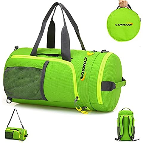 Sports Bag, Comsun 3 in 1 Foldable Sports Gym Duffel Football Backpack School Bag for Soccer Basketball Training Travel with Shoulder Strap