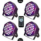 LED PAR Licht 36W 36LEDs RGB 7 Beleuchtung 4 STÜCK Modi Disco Lichteffekte dj...