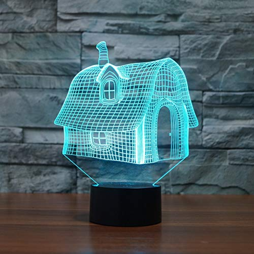 Aetd Schreibtischlampen Märchen Traum Haus Cottages Mini Holzhütten Modell Dekor Beleuchtung 7 Farben Ändern Illusion Nachtlampe Für Kinder Weihnachten
