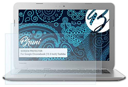 bruni-google-chromebook-133-inch-toshiba-pellicola-proteggi-2-x-cristallino-protezione-pellicola-del