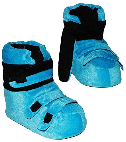 Unbekannt Hausschuhe - als Blaue Skischuhe - SUPERWARM - Gr. 39 - 40 - 41 - 42 - gefütterte Plüschhausschuhe / Hausstiefel / Hausschuh Stiefel warm Skischuh / für Kinde..