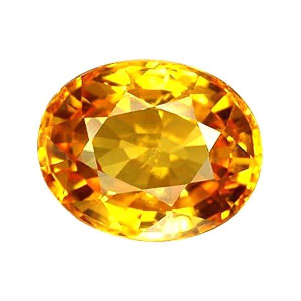 S Kumar Gems & Jewels 10.25 Ratti Certified Pukhraj/Pookhraj/Pokhraj (Yellow Sapphire) Real Rashi Ratan/Gemstone for Men and Women