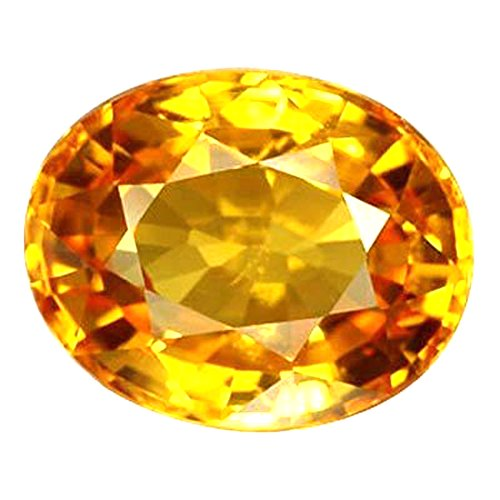 S Kumar Gems & Jewels Pukhraj Stone Original Certified Natural Yellow Sapphire Gemstone 10.25 Ratti