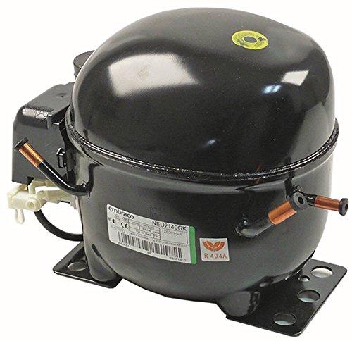Compresor neu2140gk 50Hz, Frío r404a 220-240V LBP 10,6kg 1/2Hp cilindrada 8,77cm³