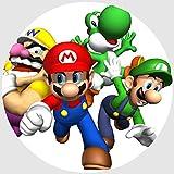 Tortenaufleger Tortenfoto Aufleger Foto Bild Super Mario Bros rund ca. 20 cm (28) *NEU*OVP*