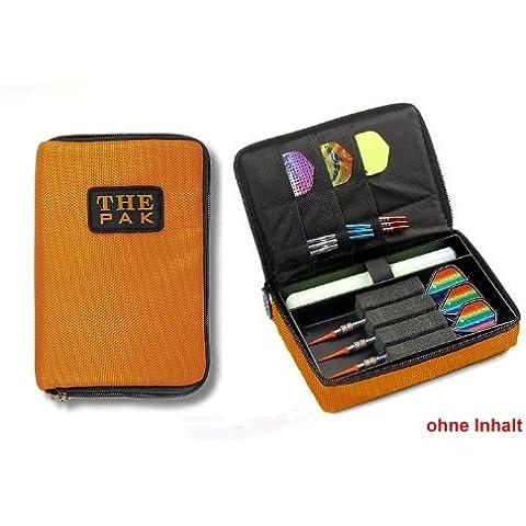 Custodia The Pak, colore: arancione resistente custodia in nylon per 1–2Set, freccette e scomparti aggiuntivi per alette montato e aste di ricambio. (senza