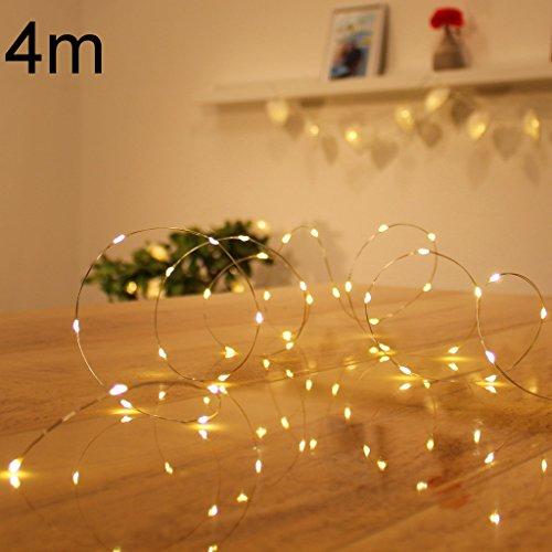 Micro LED lichterkette warmweiß Draht-Lichterkette Leuchtdraht mit mini Tropfen auf Silberdraht Weihnachtsbeleuchtung (80er LED Strom)