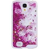 Voguecase® Para Samsung Galaxy S4 i9500,Líquido Dinámico Arena Movediza Stars Funda Carcasa Duro Tapa Case Cover (rosa) + Gratis aguja de la pantalla stylus universales