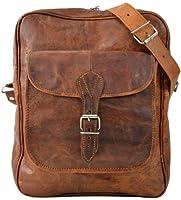 Gusti Leder M21 - Bolso bandolera de piel, estilo vintage