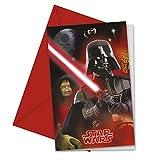 Lot 6 Carte invitation Star Wars Dark Vador - Anniversaire Fete - 970