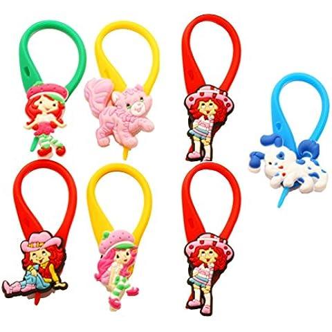 AVIRGO 7 pezzi Colorato Soft Zipper Pull Pendaglio di Zaino di Giacca Set # 101 - 4