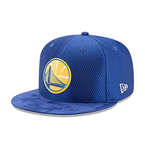 New Era Golden State Warriors 9FIFTY OF NBA 2017 On-Court Snapback Casquette, Taille S/M