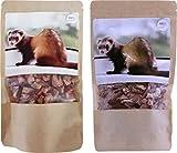 Anifit Frettchen-Snack Rinderherzen Hühnerherzen (gefriergetrocknet) 2x50g - maximaler Geschmack