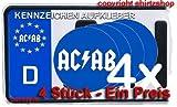 ACAB A.C.A.B. NUMMERNSCHILD Aufkleber Autoaufkleber 4er Set