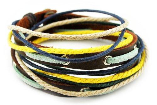 axy TWIC6 Tibet WICKELARMBAND Serie 6! ECHT Leder Armband Leather Bracelet! (Modell 1a) -