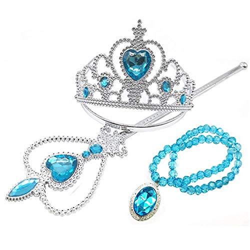 FancyDressWale Girl's Princess Elsa Cinderella Rapunzel Dress-up Accessories Set