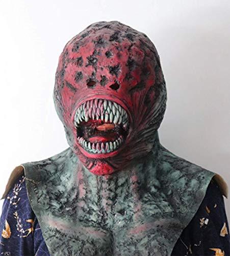 M&M Halloween Horrormaske Horror Venom Maske Biochemische Canine Horror Maske Full Face Zombie Latex Kopfbedeckung (Full Face Paint Halloween)