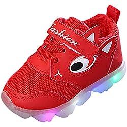 Chaussures Bébé Binggong Unisexe Enfants Sports Chaussures Enfant en Bas âge Bébé Fille a Conduit des Chaussures Légères garçons Lumineux Chaussures de Sport en Plein air