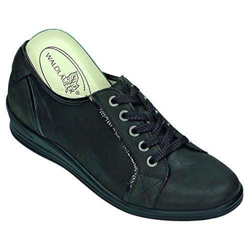 Chemin de forêt Chaussures pour Femme Confortable Cuir Nubuck Graisse/komb., cuir PU, Semelle amovible-Semelle Marron - schiefer/moro Weite H