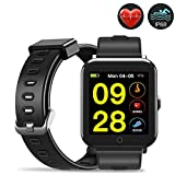 Evershop Smart Watch IP68 Waterproof with 1.3inch IPS Square Screen for Swimming, Fitness