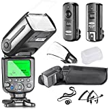 Neewer® Professional i-TTL Slave Flash Kit for NIKON D7100 D7000 D5300 D5200 D5100 D5000 D3200 D3100 D3300 D90 D800 D700 D300 D300S D610, D600 D4 D3S D3X D3 D200 DSLR Camera- Includes: Neewer Auto-Focus Flash with LCD Screen + 2.4GHz 3-IN-1 Wireless Trigger+N1-Cord & N3-Cord Cables + Hard & Soft Flash Diffusers + Lens Cap Holder Description change to:Neewer Professional On/Off-Camera I-TTL Auto-Focus Flash