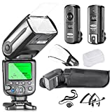 Neewer® Professional i-TTL Slave Flash Kit for NIKON D7100 D7000 D5300 D5200 D5100 D5000 D3200 D3100 D3300 D90 D800 D700 D300 D300S D610, D600 D4 D3S D3X D3 D200 DSLR Camera- Includes: Neewer® Auto-Focus Flash with LCD Screen + 2.4GHz 3-IN-1 Wireless Trigger+N1-Cord & N3-Cord Cables + Hard & Soft Flash Diffusers + Lens Cap Holder Description change to:Neewer® Professional On/Off-Camera I-TTL Auto-Focus Flash